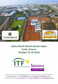 Lyttos beach resort seniors open 2018